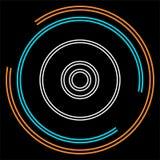 Διανυσματικό CD - εικονίδιο μουσικής, dvd ή αποθήκευση Cd διανυσματική απεικόνιση