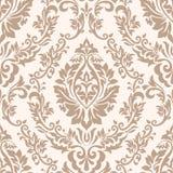Διανυσματικό damask άνευ ραφής στοιχείο σχεδίων Κλασσική ντεμοντέ damask πολυτέλειας διακόσμηση, βασιλική βικτοριανή άνευ ραφής σ διανυσματική απεικόνιση