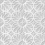 Διανυσματικό damask άνευ ραφής τρισδιάστατο υπόβαθρο 211 σχεδίων τέχνης εγγράφου στρογγυλό διαγώνιο καλειδοσκόπιο Στοκ Εικόνες