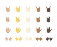 Διανυσματικό emoji χειρονομίας βράχου Στοκ Φωτογραφίες
