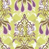 Διανυσματικό floral άνευ ραφής σχέδιο στο ύφος Nouveau τέχνης απεικόνιση αποθεμάτων
