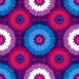 Διανυσματικό floral περίκομψο άνευ ραφής σχέδιο Στοκ Εικόνα