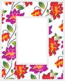 Διανυσματικό floral πλαίσιο φωτογραφιών Στοκ Εικόνες