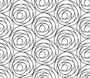 Διανυσματικό floral υπόβαθρο των συρμένων γραμμών Στοκ εικόνες με δικαίωμα ελεύθερης χρήσης