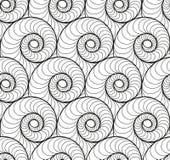 Διανυσματικό floral υπόβαθρο των συρμένων γραμμών Στοκ Εικόνα