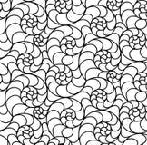 Διανυσματικό floral υπόβαθρο των συρμένων γραμμών Στοκ Φωτογραφίες