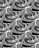 Διανυσματικό floral υπόβαθρο των συρμένων γραμμών Στοκ Εικόνες