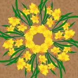 Διανυσματικό floral mandala Στοκ φωτογραφίες με δικαίωμα ελεύθερης χρήσης