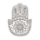 Διανυσματικό hamsa doodle Στοκ Φωτογραφίες