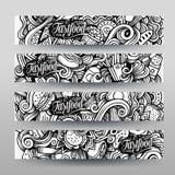 Διανυσματικό hand-drawn περιγραμματικό γρήγορο γεύμα Doodle ιχνών γραφικής παράστασης Στοκ Φωτογραφίες