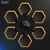 Διανυσματικό hexagon infographic πρότυπο σχεδίου επίσης corel σύρετε το διάνυσμα απεικόνισης Στοκ Φωτογραφία