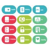 Διανυσματικό Icone Infographic σύνολο Στοκ Εικόνες