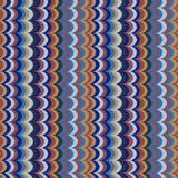 Διανυσματικό ikat κυμάτων άνευ ραφής σχέδιο χρωμάτων φτερών ασιατικό αναδρομικό Στοκ Φωτογραφίες