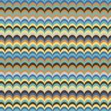 Διανυσματικό ikat κυμάτων άνευ ραφής σχέδιο χρωμάτων φτερών ασιατικό αναδρομικό φωτεινό Στοκ Εικόνες