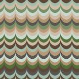Διανυσματικό ikat κυμάτων πράσινο άνευ ραφής σχέδιο χρωμάτων φτερών αναδρομικό Στοκ φωτογραφία με δικαίωμα ελεύθερης χρήσης