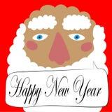 Διανυσματικό illustraation gretting κάρτα με τη Χαρούμενα Χριστούγεννα κειμένων στοκ εικόνα