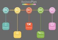 Διανυσματικό infographic πρότυπο για το διάγραμμα, γραφική παράσταση, παρουσίαση, διάγραμμα, επιχειρησιακή έννοια με 5 επιλογές διανυσματική απεικόνιση