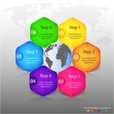 Διανυσματικό infographic πρότυπο Στοκ φωτογραφία με δικαίωμα ελεύθερης χρήσης