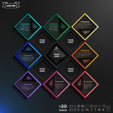 Διανυσματικό infographic σχέδιο με τα ζωηρόχρωμα rhombs Στοκ εικόνες με δικαίωμα ελεύθερης χρήσης