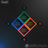 Διανυσματικό infographic σχέδιο με τα ζωηρόχρωμα rhombs Στοκ Φωτογραφία