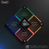 Διανυσματικό infographic σχέδιο με τα ζωηρόχρωμα rhombs Στοκ φωτογραφίες με δικαίωμα ελεύθερης χρήσης
