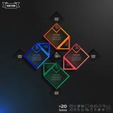 Διανυσματικό infographic σχέδιο με τα ζωηρόχρωμα rhombs Στοκ εικόνα με δικαίωμα ελεύθερης χρήσης