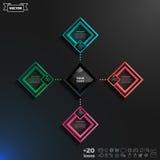 Διανυσματικό infographic σχέδιο με τα ζωηρόχρωμα rhombs Στοκ Εικόνες