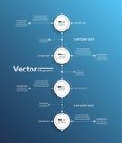 Διανυσματικό infographics με τους κύκλους στο μπλε backgraund Στοκ εικόνες με δικαίωμα ελεύθερης χρήσης
