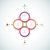 Διανυσματικό infographics, τρισδιάστατο πρότυπο 12-23-16 διαγραμμάτων κύκλων εγγράφου Στοκ φωτογραφία με δικαίωμα ελεύθερης χρήσης