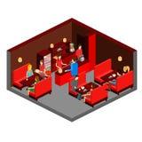 Διανυσματικό isometric εστιατόριο σουσιών εικονίδιο οικοδόμησης Στοκ Εικόνα