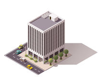Διανυσματικό isometric κτήριο Στοκ φωτογραφίες με δικαίωμα ελεύθερης χρήσης