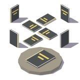 Διανυσματικό Isometric μαύρο βιβλίο Στοκ εικόνα με δικαίωμα ελεύθερης χρήσης