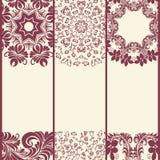 Διανυσματικό mandala Αφηρημένα διανυσματικά Floral διακοσμητικά σύνορα Δαντέλλα π Στοκ φωτογραφίες με δικαίωμα ελεύθερης χρήσης