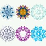 Διανυσματικό mandala Αφηρημένα διανυσματικά Floral διακοσμητικά σύνορα Στοκ εικόνα με δικαίωμα ελεύθερης χρήσης