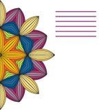 Διανυσματικό mandala Αφηρημένα διανυσματικά Floral διακοσμητικά σύνορα Στοκ Εικόνες