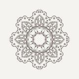 Διανυσματικό mandala Δερματοστιξία δαντελλών Mehndi Ασιατική ύφανση Στοκ Εικόνες