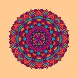 Διανυσματικό mandala διακοσμήσεων χρώματος απεικόνισης Στοκ εικόνα με δικαίωμα ελεύθερης χρήσης