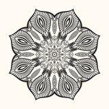 Διανυσματικό mandala διακοσμητικός κύκλος δ&i Στοκ φωτογραφία με δικαίωμα ελεύθερης χρήσης