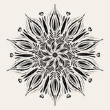 Διανυσματικό mandala Διακοσμητικό στρογγυλό στοιχείο στο ύφος boho Στοκ Εικόνα