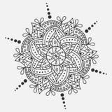 Διανυσματικό mandala διακόσμηση γύρω από το διάν&upsil Παραδοσιακό ινδικό σύμβολο Γραφικό πρότυπο για το σχέδιό σας Στοκ Εικόνες