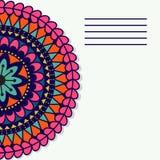 Διανυσματικό mandala Ντεκόρ για το σχέδιό σας, διακόσμηση δαντελλών Στοκ εικόνες με δικαίωμα ελεύθερης χρήσης