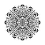 Διανυσματικό mandala Floral κυκλική διακόσμηση με τα εθνικά μοτίβα Στοκ φωτογραφίες με δικαίωμα ελεύθερης χρήσης