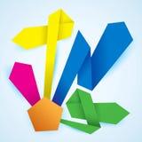 Διανυσματικό origami διαγραμμάτων επιλογής προϊόντων εγγράφου διανυσματική απεικόνιση