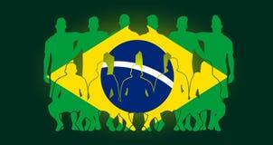Διανυσματικό pla αθλητικού ποδοσφαίρου ταπετσαριών της Ρωσίας σχεδίου σημαιών ομάδων ποδοσφαίρου ελεύθερη απεικόνιση δικαιώματος