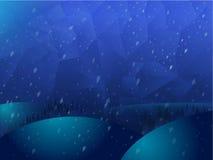 Διανυσματικό Polygonal τοπίο υποβάθρου γεωμετρίας μωσαϊκών αφηρημένο στα μπλε χρώματα Στοκ Εικόνες