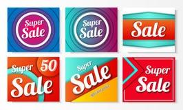 Διανυσματικό promo πώλησης Στοκ Εικόνα