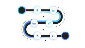 Διανυσματικό Roadmap, σύγχρονη υπόδειξη ως προς το χρόνο Infographic με το νέο Backlight Πρότυπο για την επιχειρησιακή παρουσίαση ελεύθερη απεικόνιση δικαιώματος