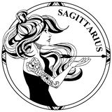 Διανυσματικό shilouette σημαδιών Sagittarius zodiak ελεύθερη απεικόνιση δικαιώματος