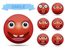 Διανυσματικό smiley emoticon Στοκ Φωτογραφία