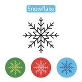 Διανυσματικό snowflake εικονίδιο Στοκ εικόνες με δικαίωμα ελεύθερης χρήσης